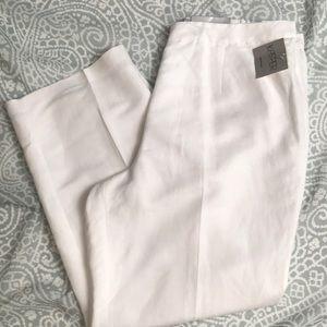 NWT KASPER Woman Audrey Classic Pant Linen Blend